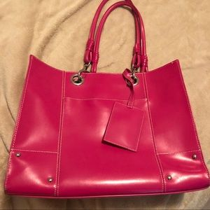 Wilson's Leather Pink Tote/Briefcase